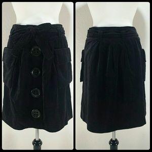 ELEVENSES lined velvet skirt E02